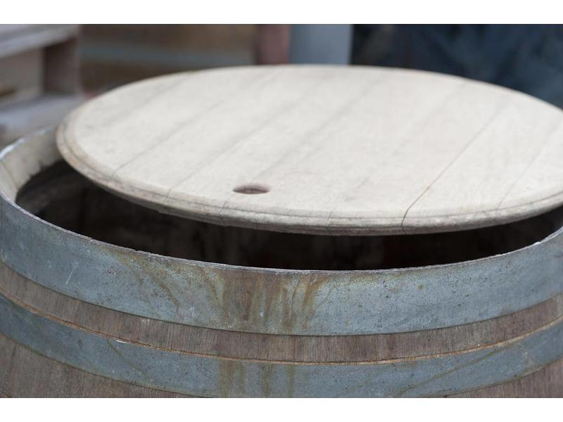 Eiken houten regenton BB 228L los deksel