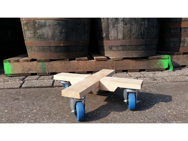"""Wine barrel """"swivel wheels"""""""