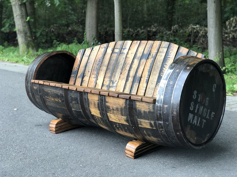 "Barrel Atelier Bank Whisky XXL ""Lowland"" Behandeld met olie"