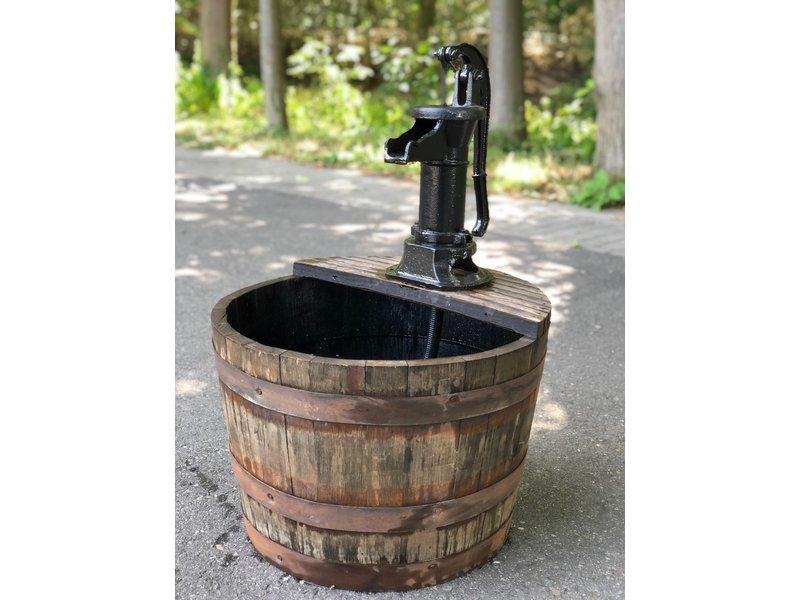 Kuip whisky klein met zwarte hand pomp