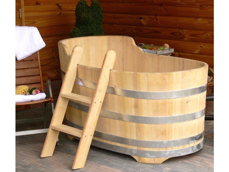 Luxe ovale badkuip middel robinia