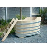 Luxurious oval bathtub medium robinia