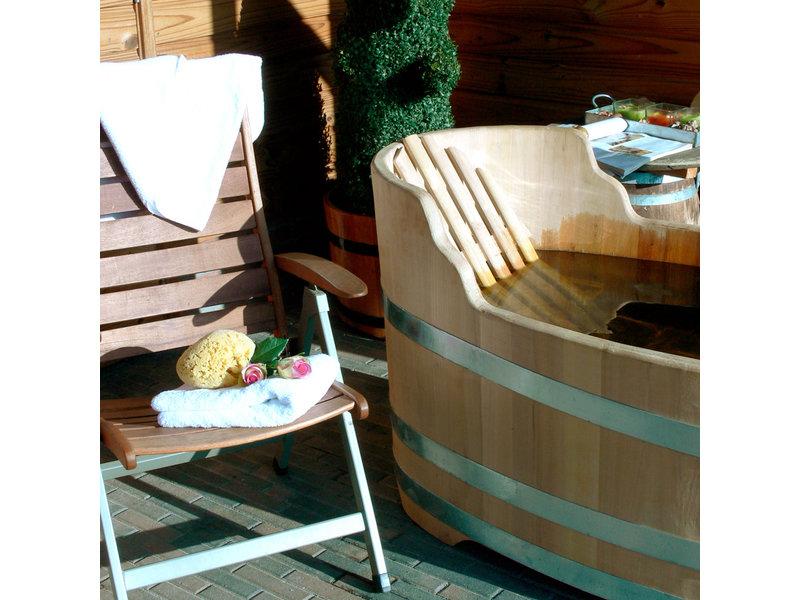Luxuriöse ovale Badewanne kleine Robinie