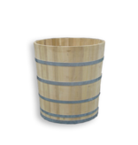 Luxurious round bathtub medium robinia