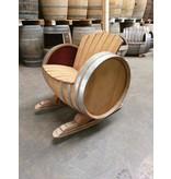 Wijnvat schommelstoel