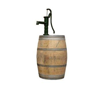 Wooden rain barrel 225L with pump
