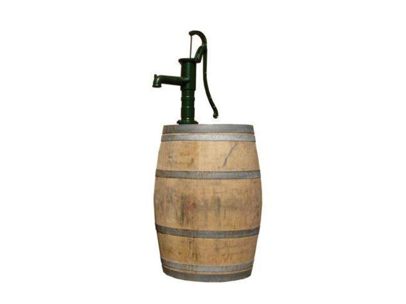 Wooden rain barrel 225L Oak wine barrel with pump