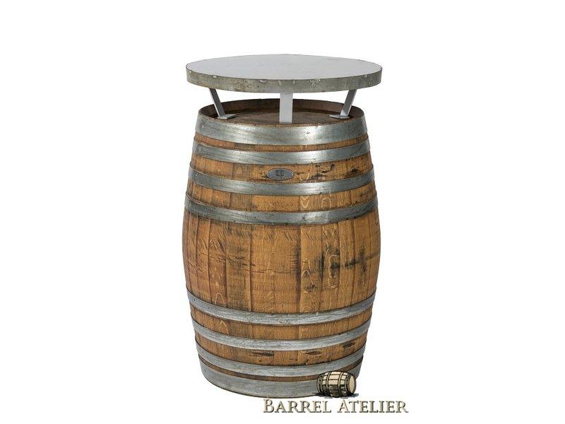 """Wijnvat Statafel  """"Brandy"""" behandeld met olie"""