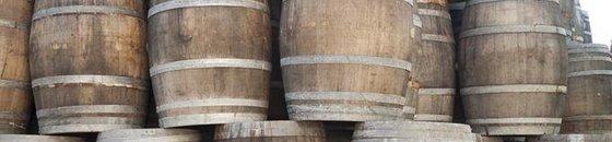 Empty wine barrels