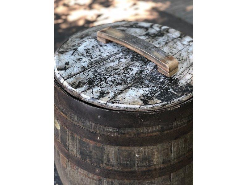 "Houten Regenton Whisky ""Scottisch""  Los deksel"