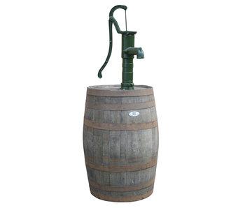 Wooden rain barrel 225L with pump - Copy