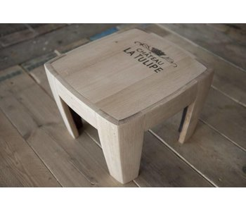 "Wine barrel table ""Chateau la Tulipe"""