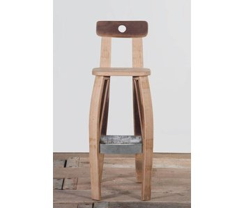 "Wine barrel bar stool ""Bordeaux"""
