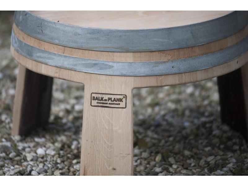 "Wine barrel side table ""Alsace"""