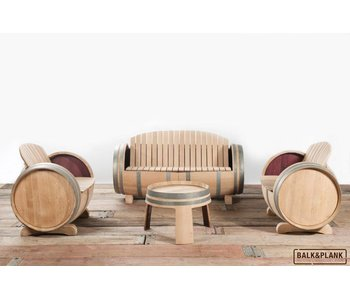 Wine barrel lounge set XL