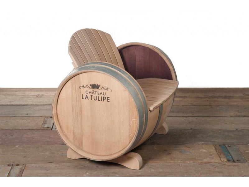 Wine barrel lounge set XL Ilja Gort