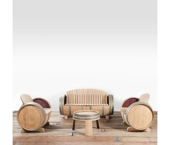 Wine barrel lounge set XL Ilja Gort