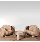 Wine barrel lounge set