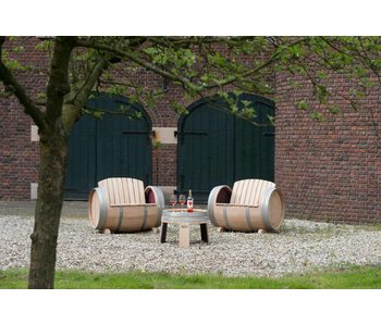 Wine barrel lounge set