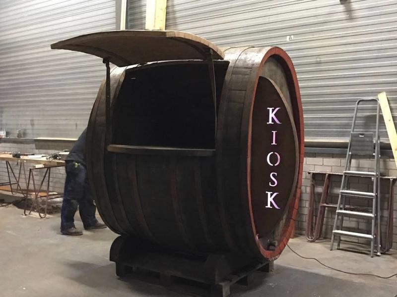 Barrel Kiosk