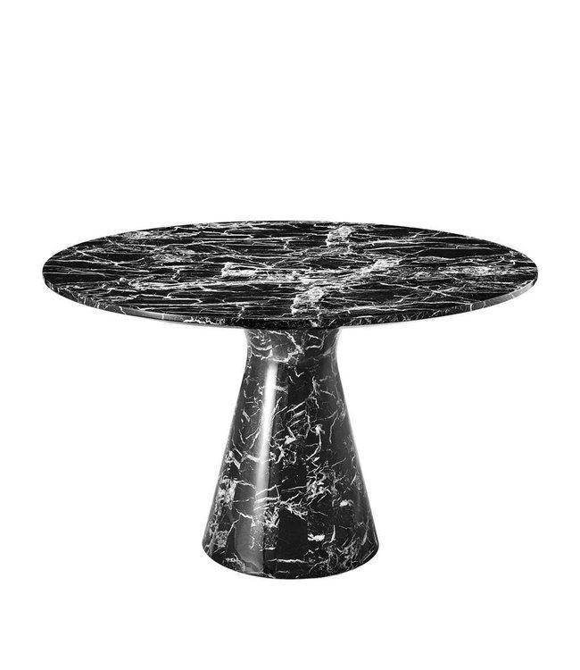 Manhattan Dining Table WHITE/BLACK