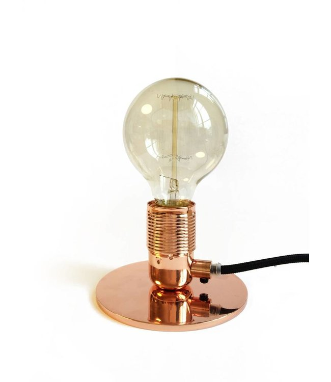 Pad Home Table Lamp Copper with LED Bulb