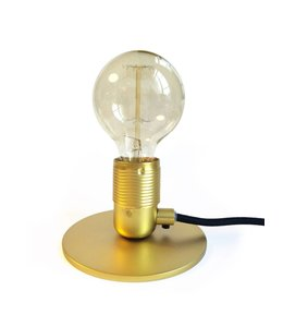 Pad Home Table Lamp Brass with LED Bulb
