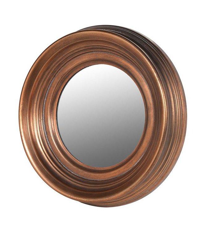 Small Antique Copper Round Mirror