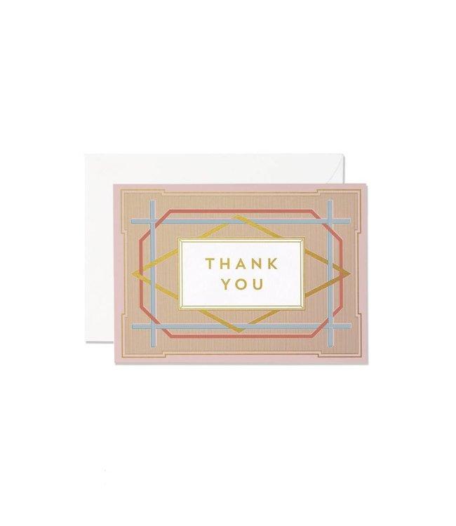 Art Deco Thank you card set
