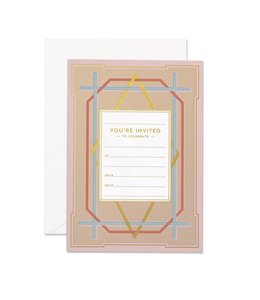 Art Deco Invitation set