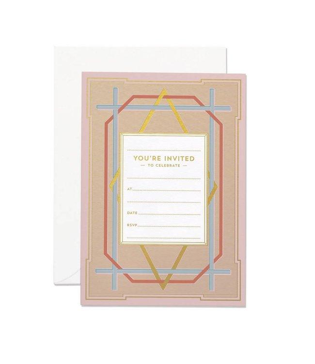 Art Deco Invitation set