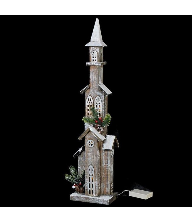 Tall LED Lit Church