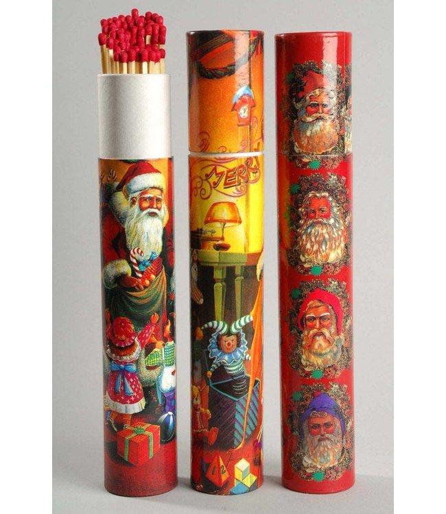 Large Christmas Matches Tube