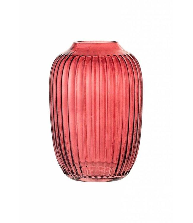 Bloomingville Red Vase Glass