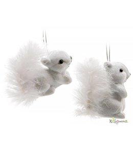Flocked Squirrel Decoration