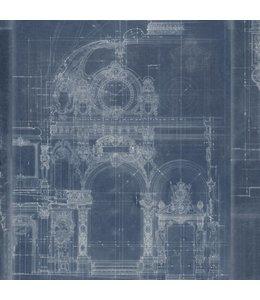 MIND THE GAP Garnier Blue Wallpaper