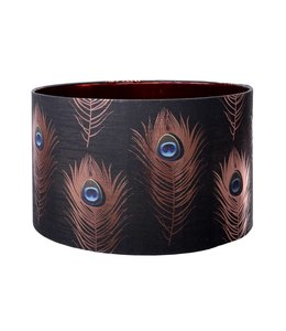 MIND THE GAP Peacock Feathers Table Lamp Shade 45cm
