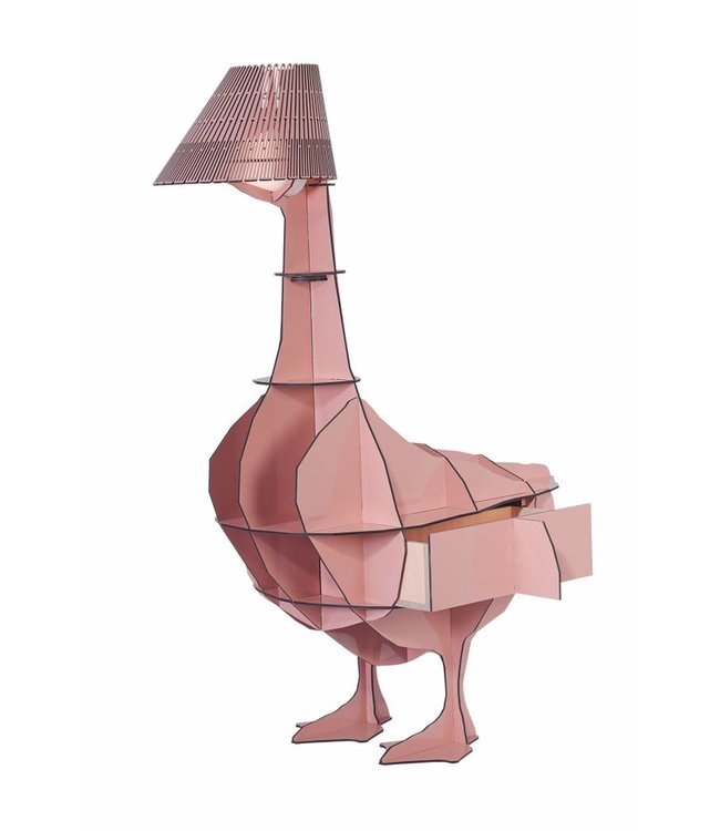 Junon Goose Bedside Lamp/Table Pink
