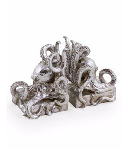 M&R Silver Octopus Bookends