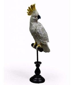 M&R White Cockatoo on Perch