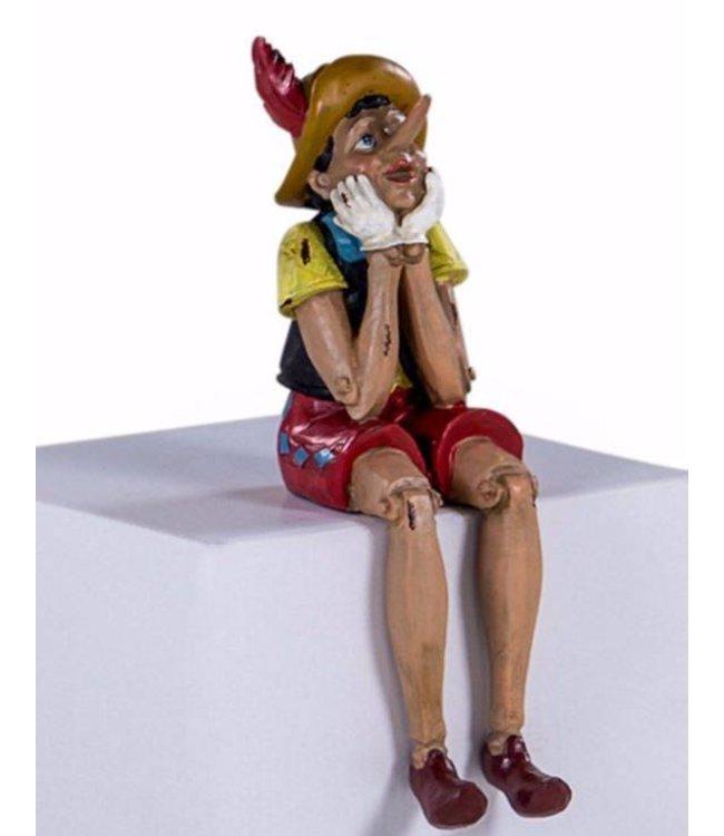 M&R Antiqued sitting pinocchio