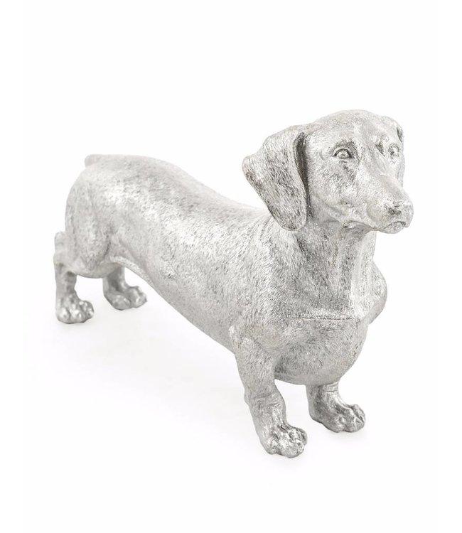 M&R Silver Dachshund Hound figure