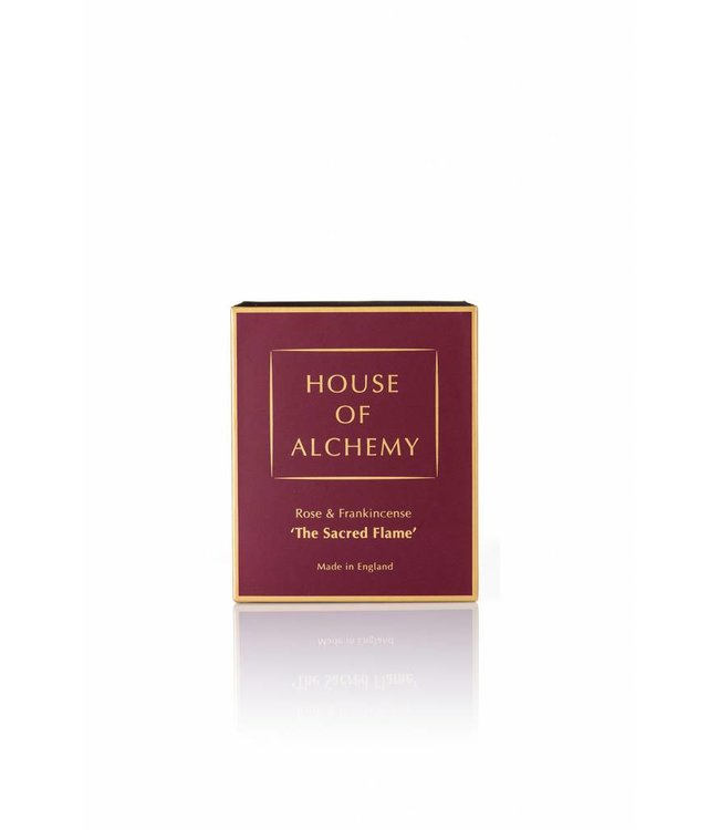 House of Alchemy The Sacred Flame - Frankinscense & Rose Candle