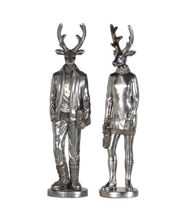 Silver Mr and Mrs Deer