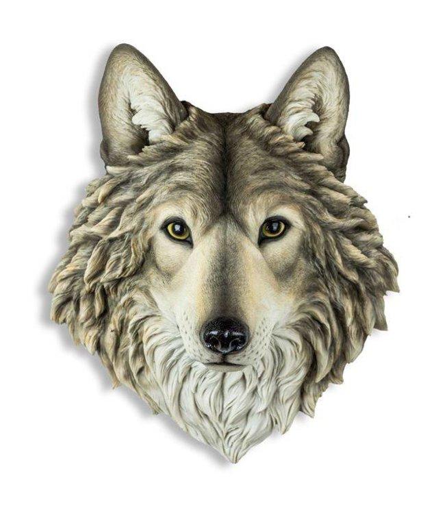 M&R Grey Wolf Wall Head