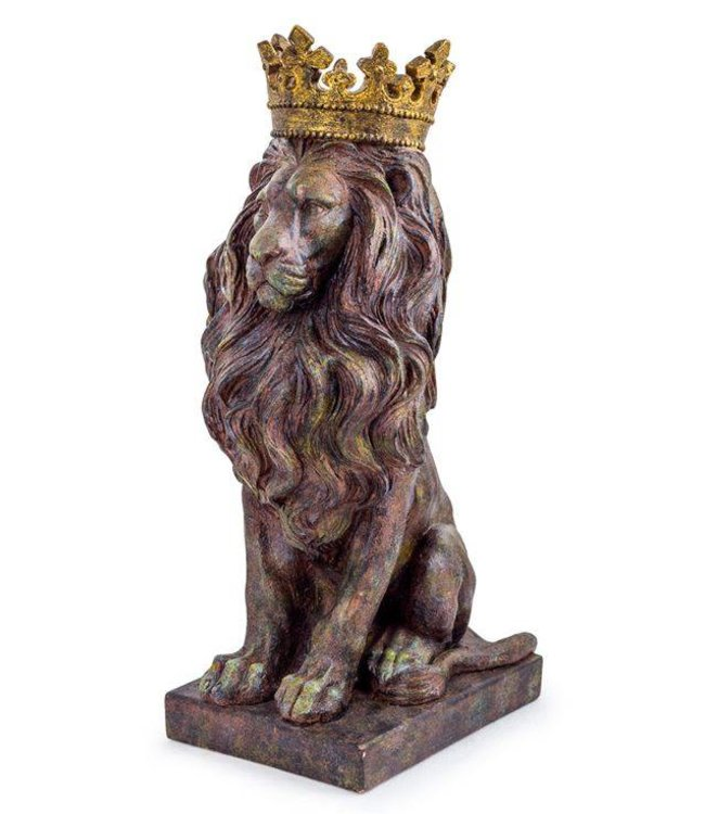 M&R Rustic Lion with Crown