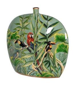 Hand Painted Jungle Deco Vase