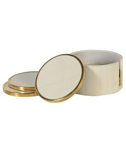 White/Brass Coasters
