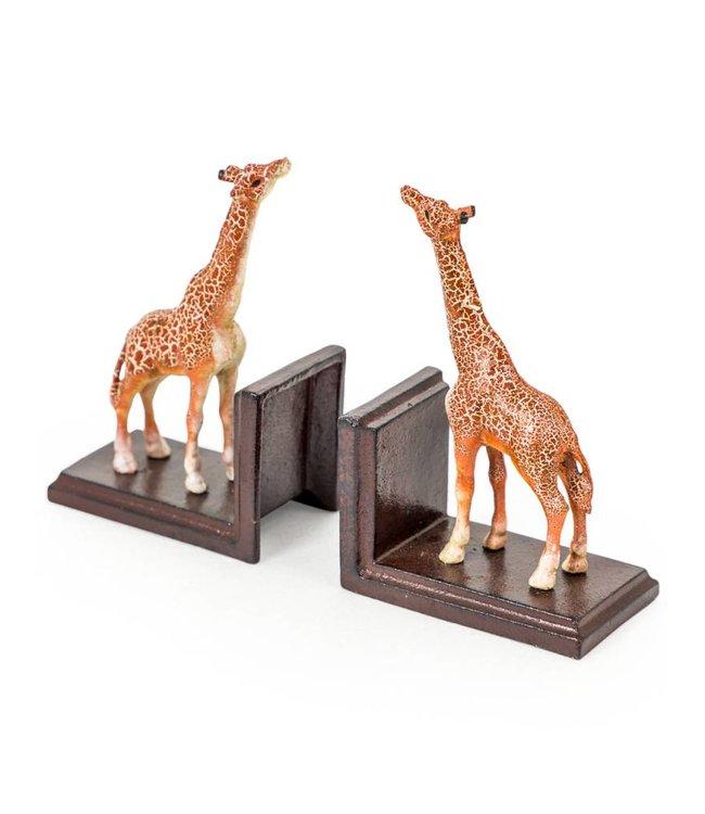 M&R Cast Iron Giraffe Bookends