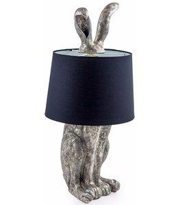 M&R Silver Rabbit Ears Lamp